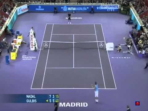Madrid 2008 - 2nd Round - Ernest Gulbis vs Rafael Nadal - Highlights