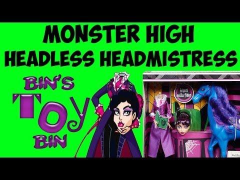Monster High Headless Headmistress Bloodgood Amp Nightmare
