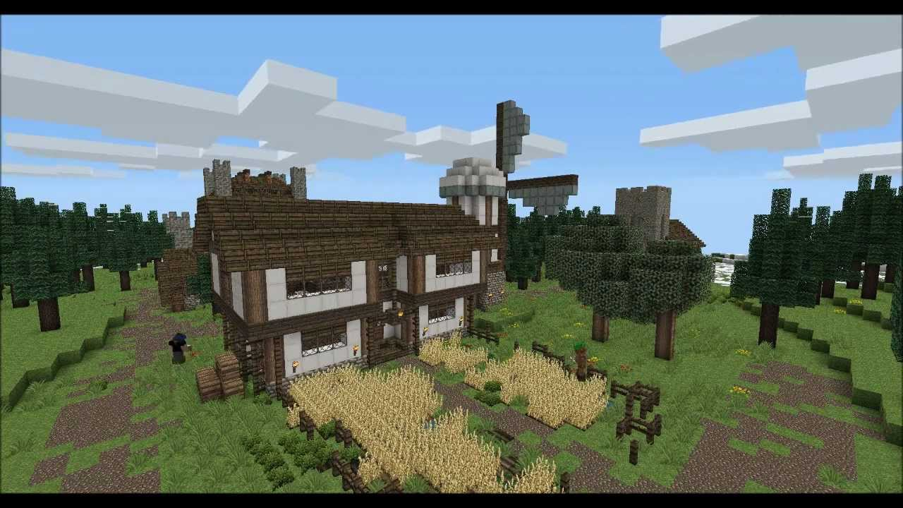Minecraft - Far... Minecraft Windmill Farm