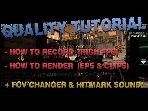 Want a sick Quality? How to render & record! [PC HIGH FPS]