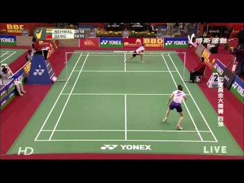 2014India Grand Prix Gold SF WS  Saina Nehwal (IND)vs 邓旋(CHN)