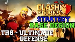 TH8 The ULTIMATE Defensive Base Get To Crystal League