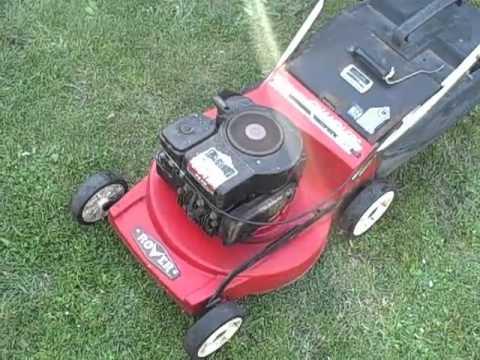 4 Stroke Rover Lawn Mower Youtube