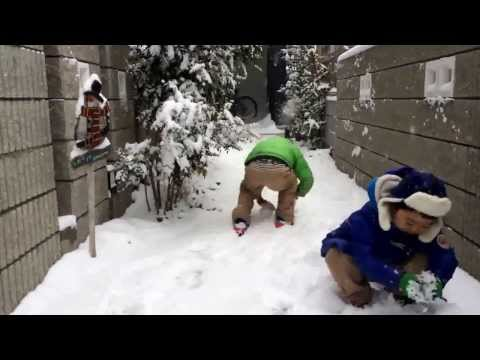 2014 Heavy Snow in Tokyo with the kids