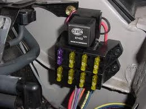 automotive wiring installing  auxiliary fuse block