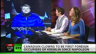Clowns and magicians invade Kremlin