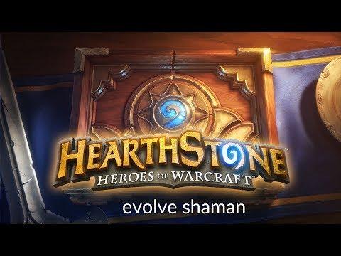 Hearthstone - Evolve Shaman deck #1 Gameplay PL