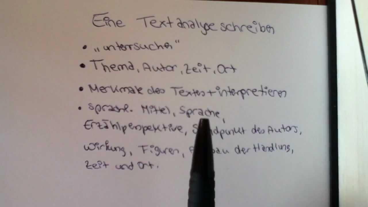 eine textanalyse schreiben aufbau und beispiel f252r den