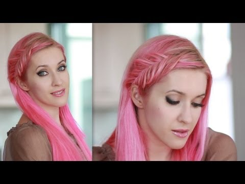 Inside out french fishtail braid tutorial