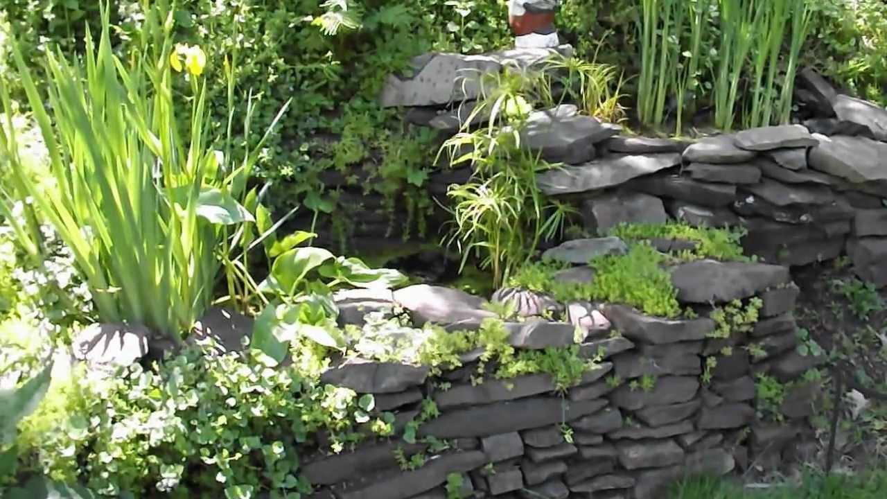 DIY Homemade Fish Pond Water Garden No Kit YouTube