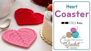 Crochet Heart Coaster Tutorial