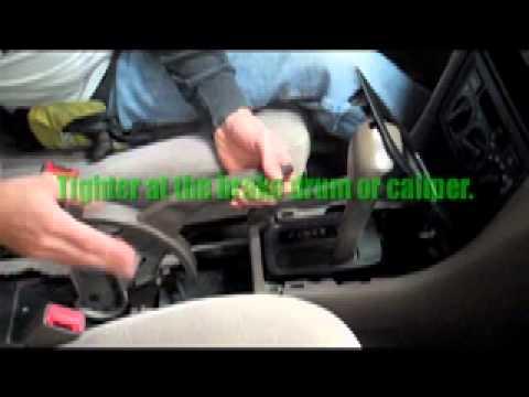 Adjusting A Hand Brake On A Car Youtube