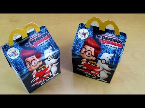 Mr. Peabody & Sherman - Happy Meal Toys