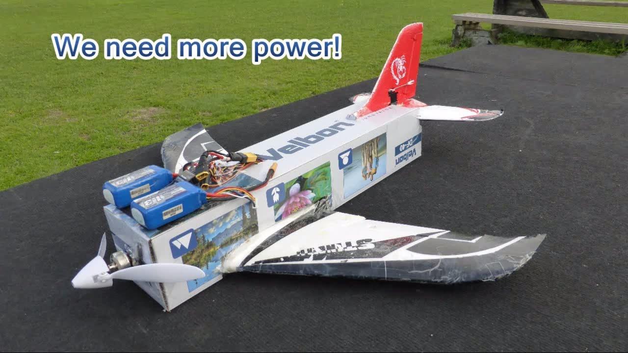 Flying Carton Homemade Rc Plane Youtube