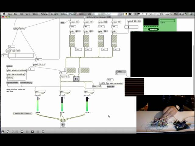Use Arduino to control the sound and video in Max/Msp (part 1)