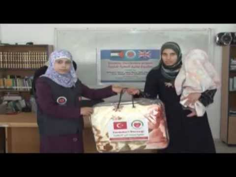 Yardimeli society distributed 100 winter blankets