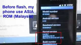 How To Flash Samsung Galaxy GT-S5360 [HD]