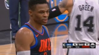 Russell Westbrook Chokes and Tries To Be Stephen Curry! Thunder vs Spurs