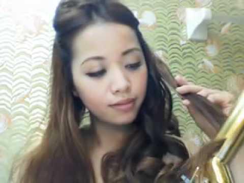 TÓC XINH - Cách uốn tóc đơn giản.FLV