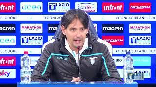La conferenza stampa di mister Inzaghi alla vigilia di Genoa-Lazio