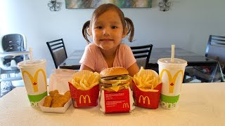 How to Make MCDONALDS Big Mac & McNuggets Kid vs Food Skit  Pretend Playtime for Kids