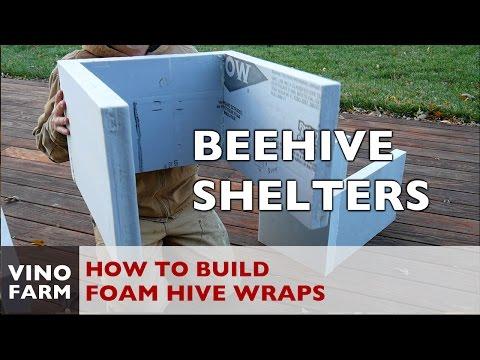 DIY Foam Beehive Winter Shelters