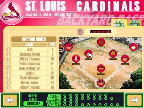 let 39 s play backyard baseball 2003 making team and game 1 part 1 3
