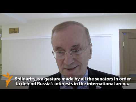 Russian Senators Declare Solidarity With Sanctioned Matviyenko
