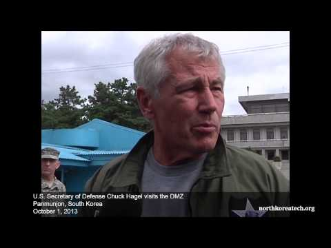 US Secretary of Defense Hagel visits DMZ