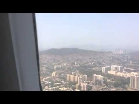 Landing Bombay City view indigo airlines