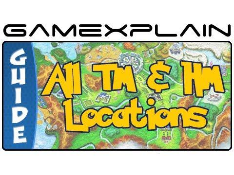 Pokémon X & Y - All TM & HM Locations (Guide & Walkthrough ...