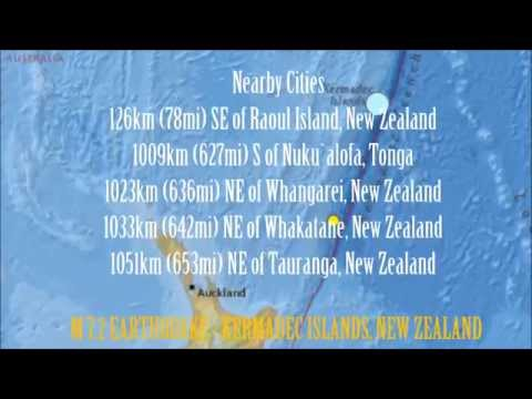 M 7.2 EARTHQUAKE - KERMADEC ISLANDS, NEW ZEALAND - July 23, 2014