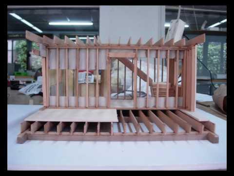 Maquetas de casas de madera sencillas