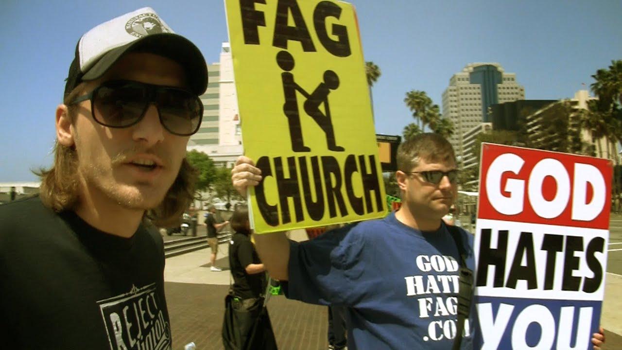 Christian vs Westboro Baptist 'God Hates Fags' Church - YouTube: www.youtube.com/watch?v=ehjWWgdrY_Q