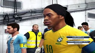 PES 2013Brasil Vs Argentina- Relatos Latinos (HD)