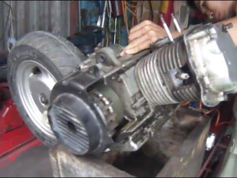 Cách tháo động cơ xe máy tay ga sym attila (p1) tại Toàn an đồng hp