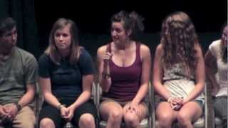 Reluctant Girl Hypnotist In College Hypnosis Stage Show