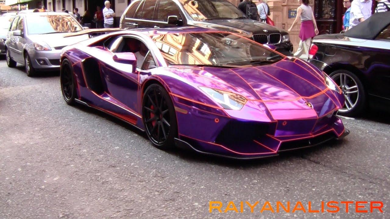 lamborghini av lamborghini aventador - Lamborghini Aventador Chrome Purple