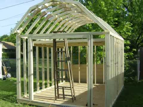 Building A Gambrel Shed Youtube