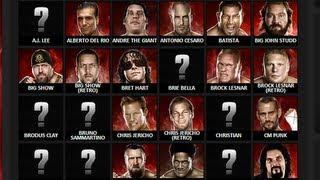 WWE 2K14 ENTIRE ROSTER REVEALED! - @WWE #RAW