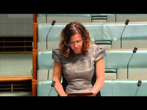 Amanda Rishworth MP speaking about financial counsellors February 2014