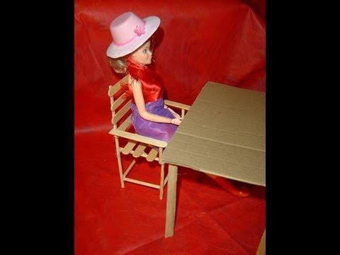 Barbie cadeira palito de sorvete