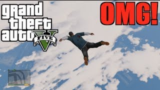 GTA V Jumping From Highest Point In The Game! (Live
