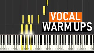 ♬ VOCAL WARM UPS #2 -- Vocal Exercises -- MAJOR SCALES - By Soulphonic ♬