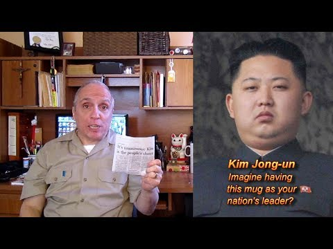 North Korea and USA Dear Leaders get 100% of the vote