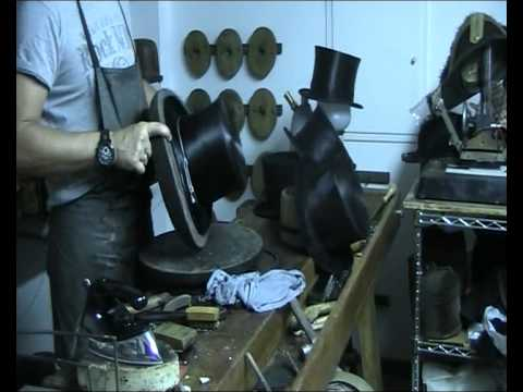 Italian top hat maker at work