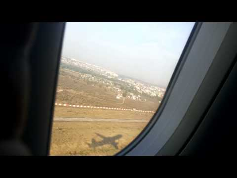 Flight Take-Off from Passengers View - Indigo Airlines