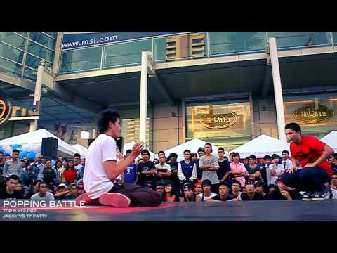 POPPING BATTLE 1 ON 1 | Jacky Vs TP Patty | CTW | Bangkok , Thailand