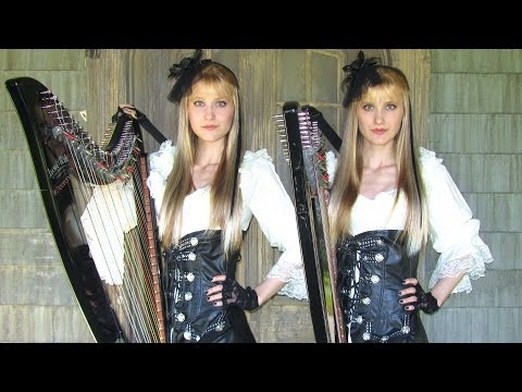 Dance of Death - IRON MAIDEN (Harp Twins electric) Camille and Kennerly