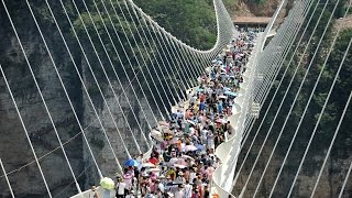 China closed the world's highest and longest glass bridge after just 16 days